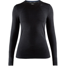 Craft Fuseknit Comfort Roundneck LS Top Women, black